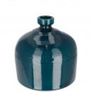 wholesale Flowerpots & Vases: Ceramic bottle Ronka , H20cm, D20cm, petrol